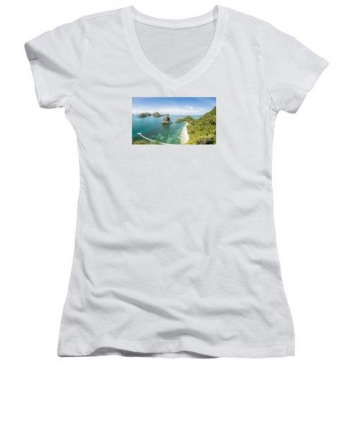 Ang Thong Marine National Park Women's V-Neck T-Shirt