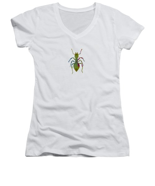 Ant Women's V-Neck T-Shirt