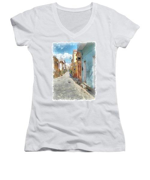 Arzachena Garibaldi Street Women's V-Neck T-Shirt