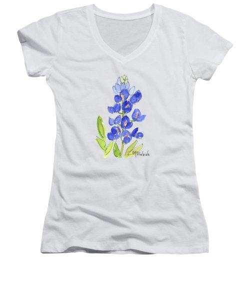 Bluebonnet Women's V-Neck T-Shirt