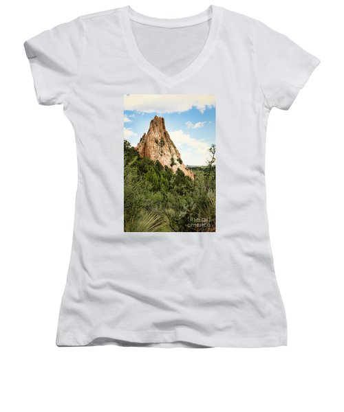 Colorado In Summer Women's V-Neck (Athletic Fit)