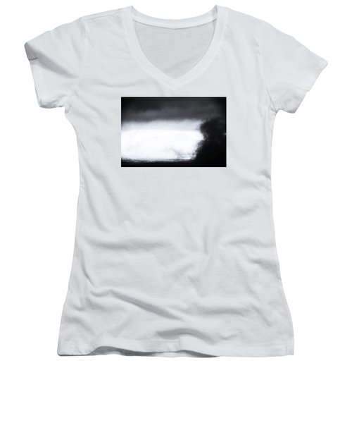 Coming In Women's V-Neck T-Shirt (Junior Cut) by Jez C Self