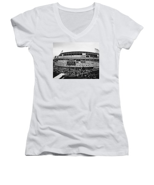 High Angle View Of Tourists Women's V-Neck (Athletic Fit)