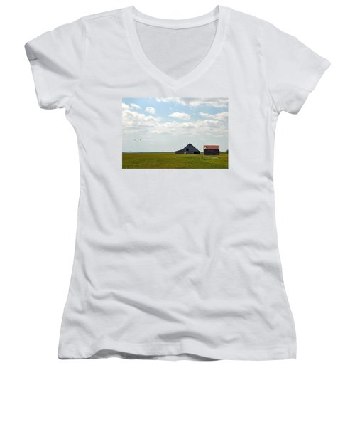 I'll Fly Away Women's V-Neck (Athletic Fit)