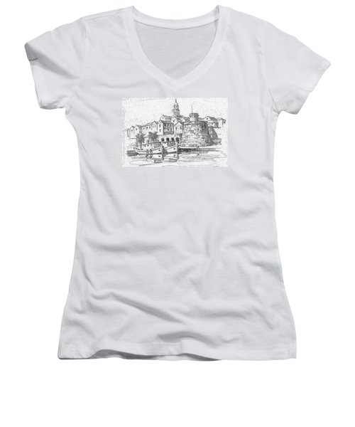 Korcula Croatia Women's V-Neck T-Shirt
