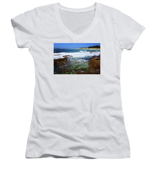 Mouth Of Margaret River Beach II Women's V-Neck (Athletic Fit)