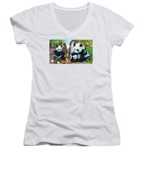 Panda Women's V-Neck