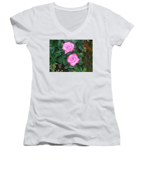 Paradise Rose Women's V-Neck (Athletic Fit)