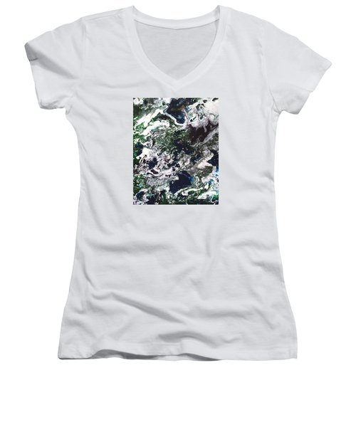 Space Odyssey 2 Women's V-Neck (Athletic Fit)