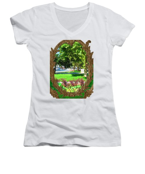 Shirts N Pod Gifts Boston N Surrounding Area Nature Photography By Navinjoshi Fineartamerica Pixles Women's V-Neck T-Shirt