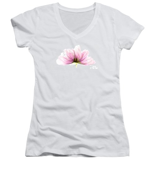 X-ray Of Peony Flower Women's V-Neck (Athletic Fit)
