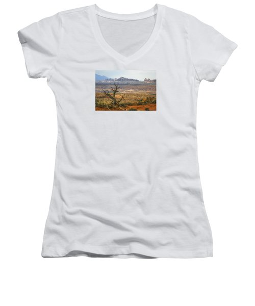 #3090 - Moab, Utah Women's V-Neck T-Shirt