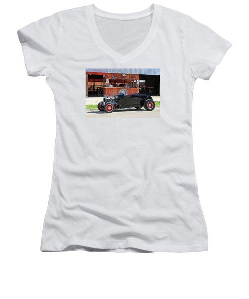 32 Roadster Women's V-Neck T-Shirt (Junior Cut) by Christopher McKenzie