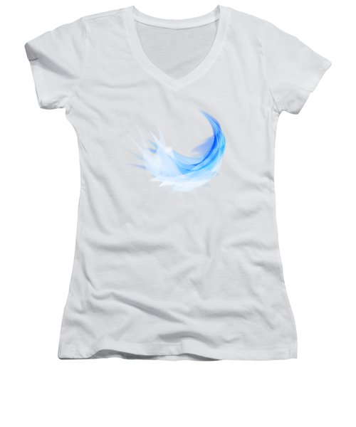 Abstract Feather Women's V-Neck T-Shirt