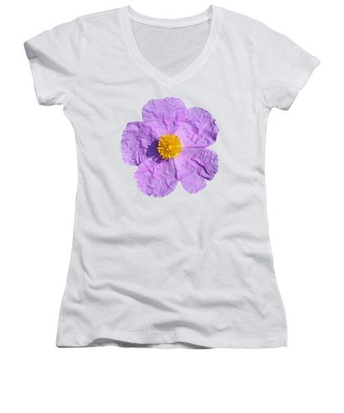 Rockrose Flower Women's V-Neck