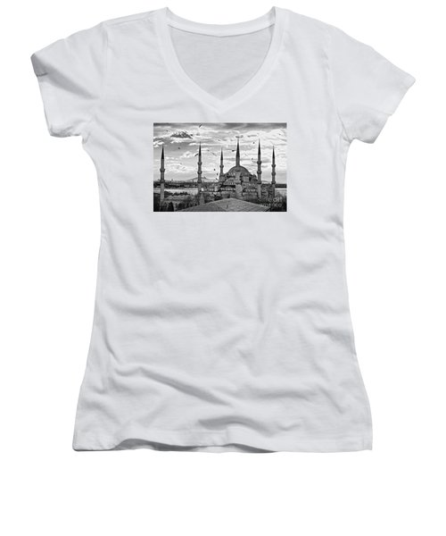 The Blue Mosque - Istanbul Women's V-Neck T-Shirt
