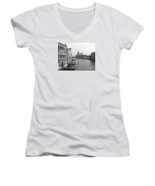 The Grand Canal In Venice Women's V-Neck
