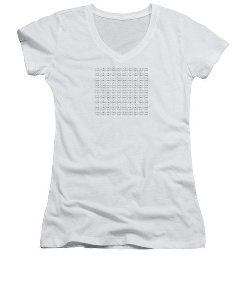 439 Elephants With Wings Women's V-Neck T-Shirt (Junior Cut)
