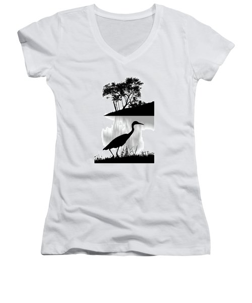 Women's V-Neck T-Shirt featuring the photograph 4474 by Peter Holme III