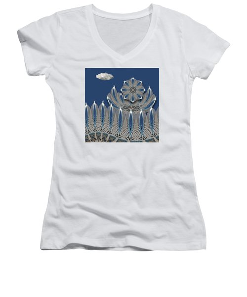 Women's V-Neck T-Shirt featuring the photograph 4475 by Peter Holme III
