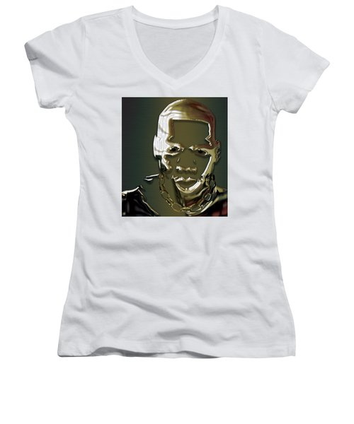 Jay Z Collection Women's V-Neck T-Shirt (Junior Cut) by Marvin Blaine