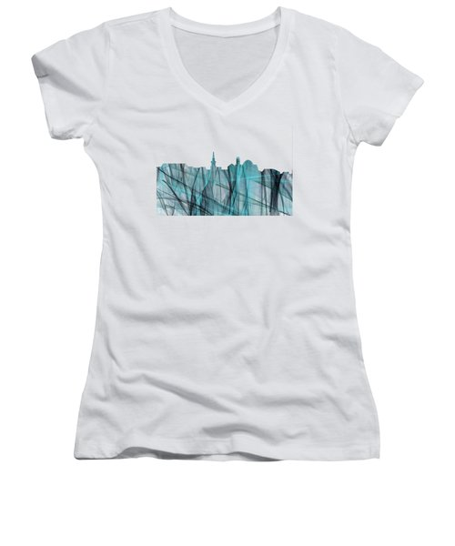 Alexandria Virginia Skyline Women's V-Neck (Athletic Fit)
