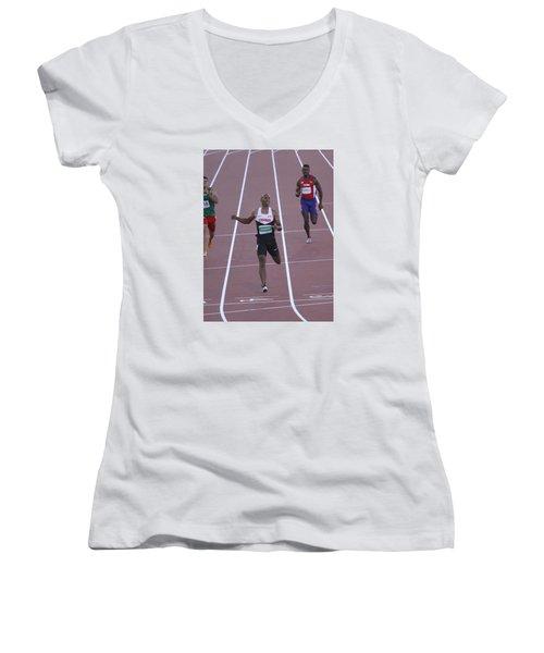 Pam Am Games. Athletics Women's V-Neck (Athletic Fit)