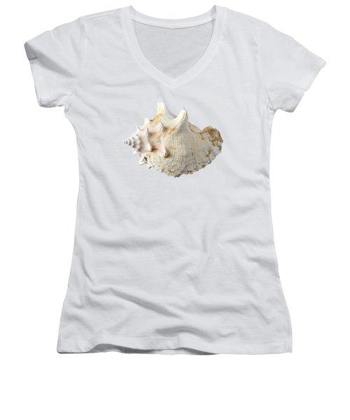 Women's V-Neck T-Shirt (Junior Cut) featuring the photograph Sea Shell by George Atsametakis