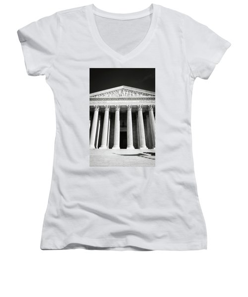 Supreme Court Of The United States Of America Women's V-Neck (Athletic Fit)
