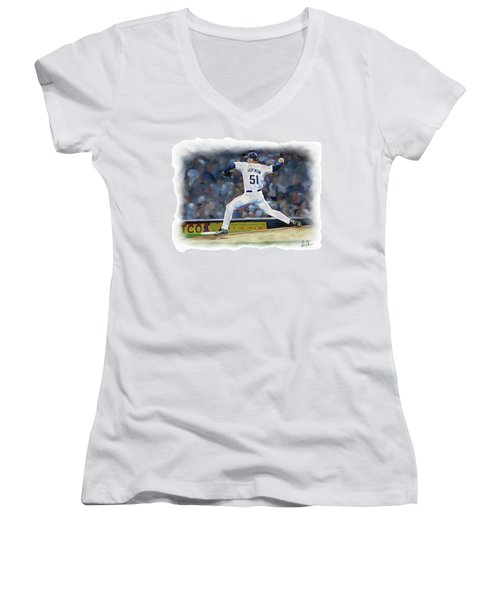 Trevor Hoffman Women's V-Neck T-Shirt