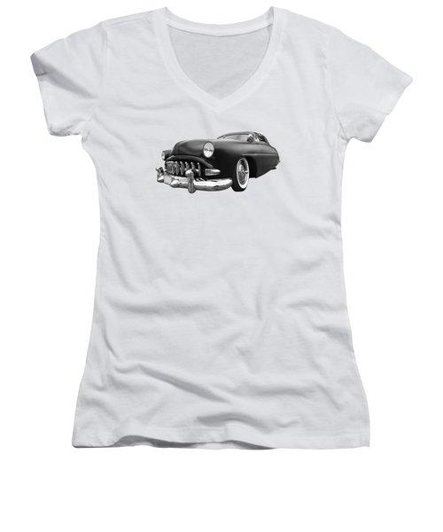 52 Hudson Pacemaker Coupe Women's V-Neck T-Shirt (Junior Cut) by Gill Billington