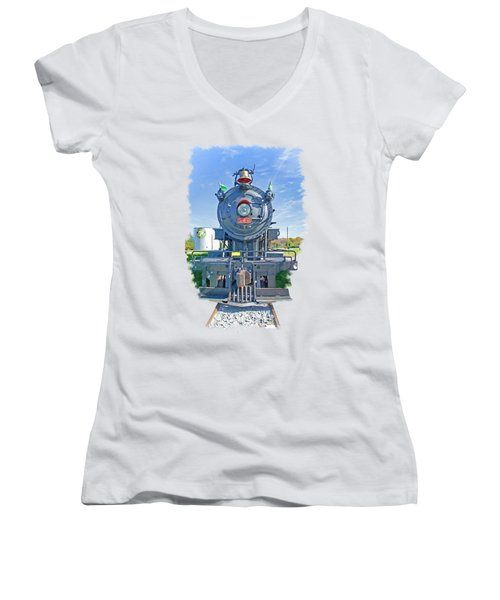 542 Women's V-Neck T-Shirt (Junior Cut) by Larry Bishop