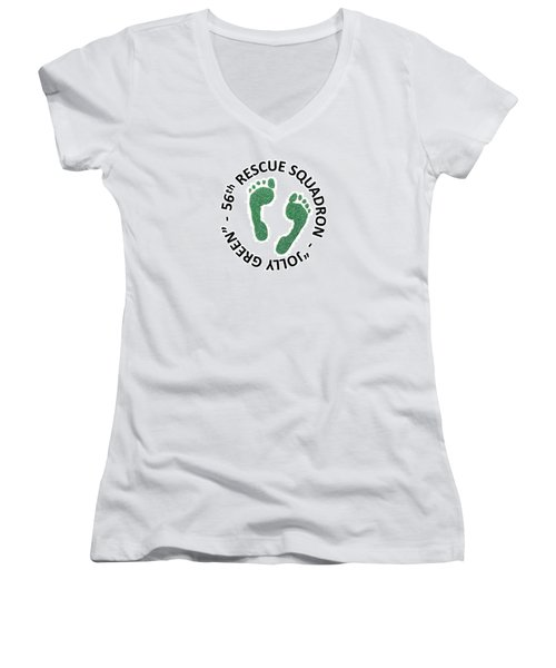 56th Rescue Squadron Women's V-Neck (Athletic Fit)