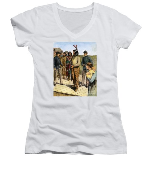 Geronimo 1829-1909.  To License For Professional Use Visit Granger.com Women's V-Neck