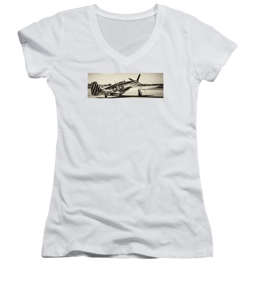 P51 Mustang Women's V-Neck T-Shirt