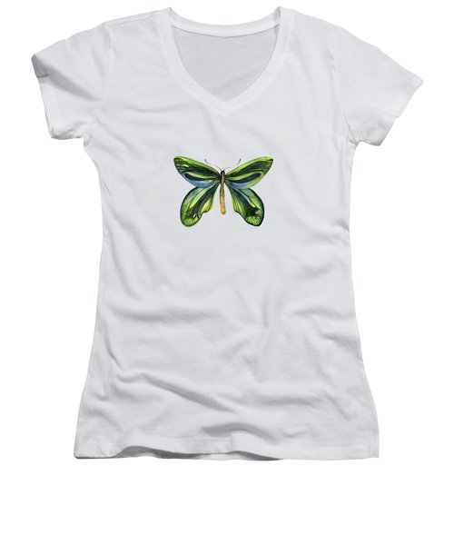 6 Queen Alexandra Butterfly Women's V-Neck (Athletic Fit)