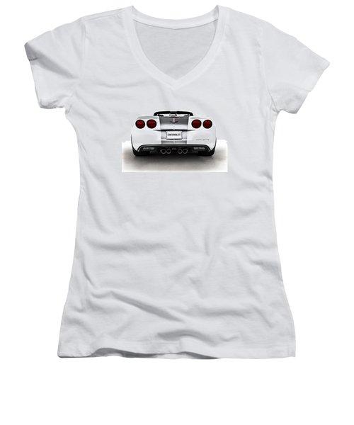 60th Anniversary Corvette Women's V-Neck T-Shirt