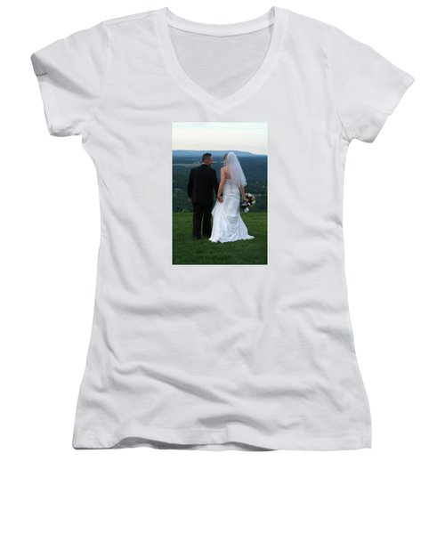 Rebecca And David Women's V-Neck T-Shirt