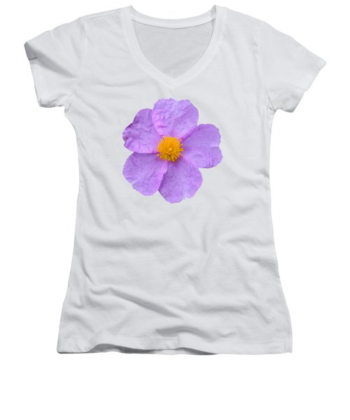 Rockrose Flower Women's V-Neck (Athletic Fit)