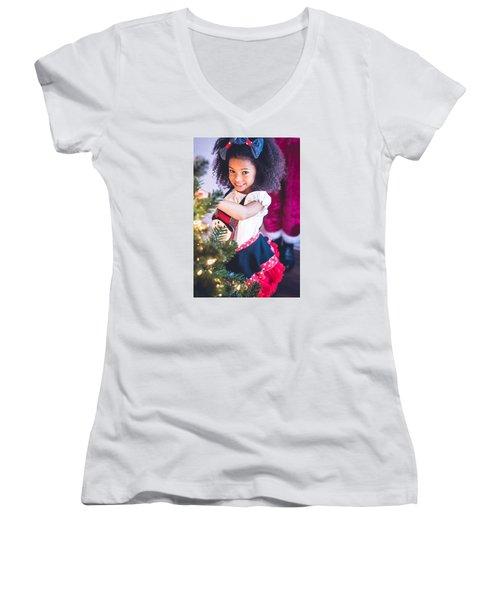 7411-2 Women's V-Neck T-Shirt (Junior Cut) by Teresa Blanton
