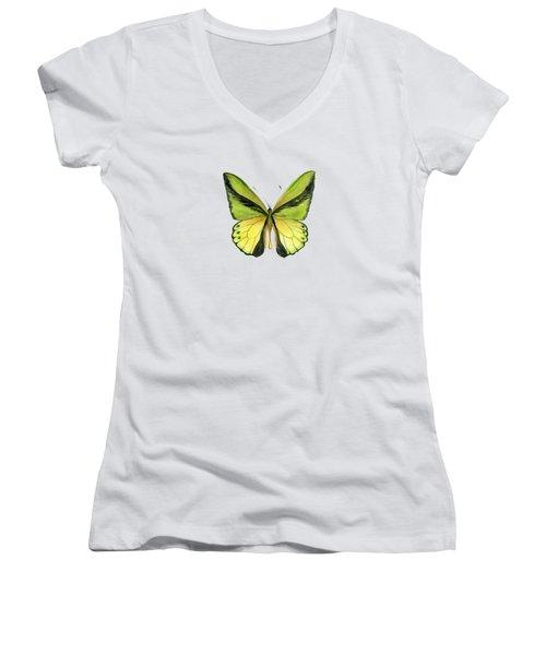 8 Goliath Birdwing Butterfly Women's V-Neck