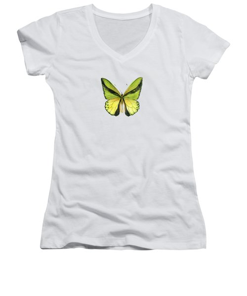 8 Goliath Birdwing Butterfly Women's V-Neck (Athletic Fit)