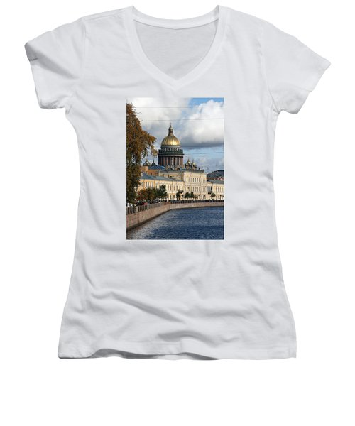 St. Petersburg Women's V-Neck T-Shirt