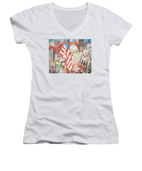 9-11 Attack Women's V-Neck T-Shirt
