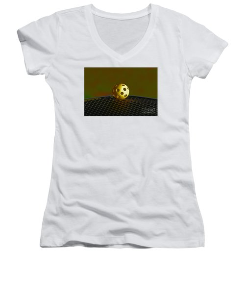 Women's V-Neck T-Shirt (Junior Cut) featuring the photograph 9- Perspective by Joseph Keane