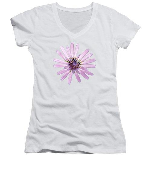 Women's V-Neck T-Shirt (Junior Cut) featuring the photograph Salsify Flower by George Atsametakis