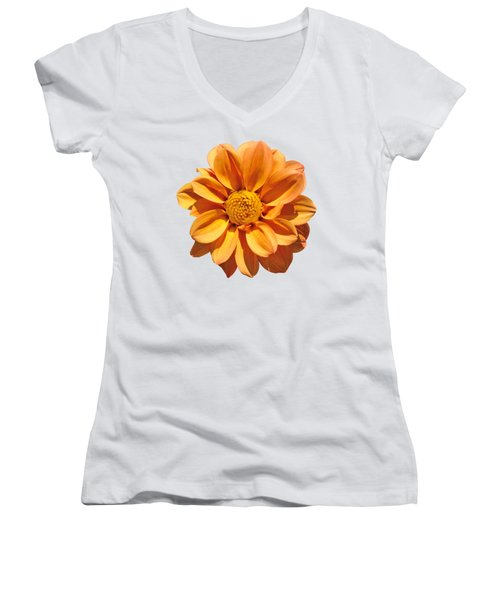 Women's V-Neck T-Shirt (Junior Cut) featuring the photograph Spring Flower by George Atsametakis