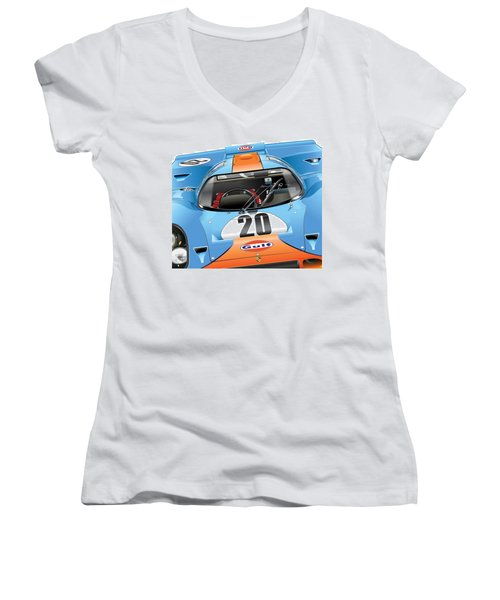 Porsche 917 Illustration Women's V-Neck (Athletic Fit)