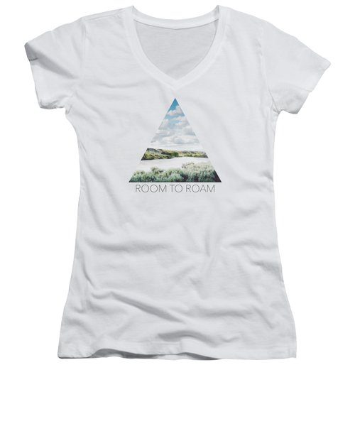 A Bend In The Yellowstone Women's V-Neck (Athletic Fit)