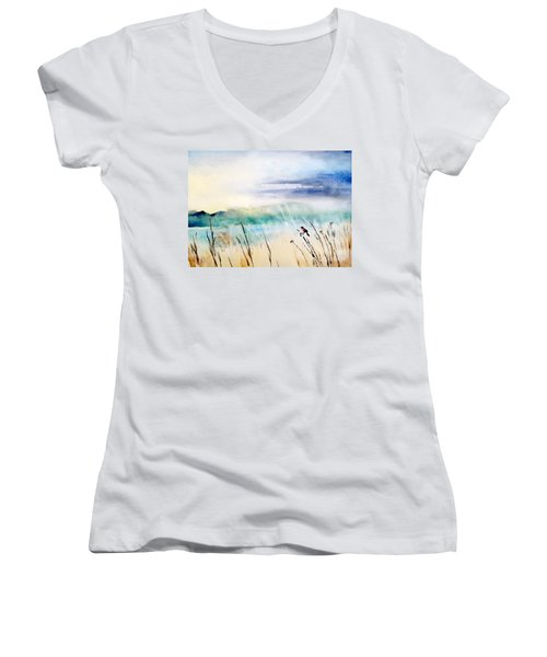 A Bird In Swamp Women's V-Neck (Athletic Fit)